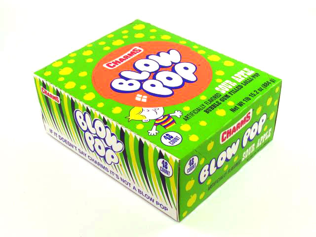 Blow Pops Sour Apple
